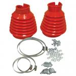 Swing Axle Boot, Red, For Beetle & Ghia 48-68, Pair PREMIUM